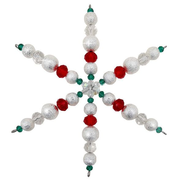 Sun 10th Nov 15:15- 16:15 Clear, Red & Green Snowflake